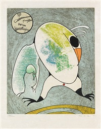 oiseaux en peril (set of 8) by max ernst