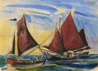 la rentrée des barques by t. lux feininger