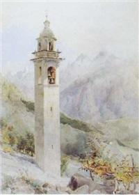 val brugaglia, near chiavenna by benjamin john merrifield donne