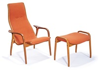 lounge chair and ottoman (2) by yngve ekstrom