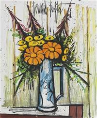 fleurs dans un pichet by bernard buffet
