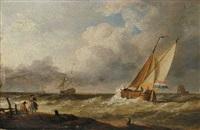 segelschiffe an der küste by h. koekkoek