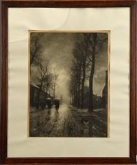 rue arborée animée by léonard misonne