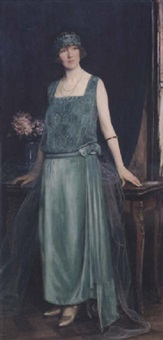 portrait of marian smith, viscountess leverhulme by maud hall (rutherford) neale