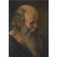 head of a saint by orazio gentileschi