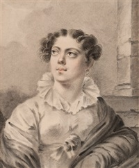 portrait of a woman by alexander molinari