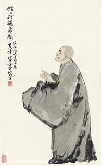 僧一行观象图 (observant monk yi xing) by fan zeng