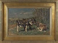 landscape with burros by johannes hubertus leonardus de haas