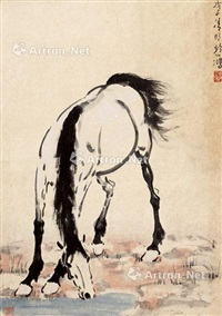 马饮图 设色纸本 by xu beihong