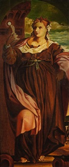 hl barbara (after palma vecchio) by august philipp henneberger
