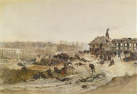 le four a chaux (study for the panorama of the battle of champigny) by alphonse marie de neuville