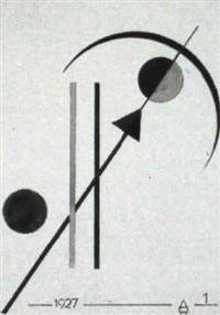 geometrische komposition mit pfeil by august agatz