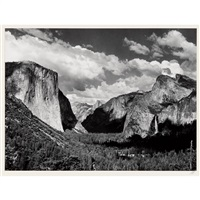 valley view by ansel adams