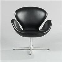 the swan (model 3320) chair by arne jacobsen