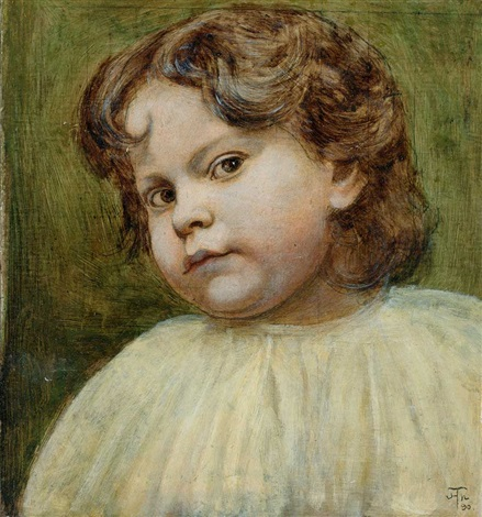 kinderportrait by hans thoma