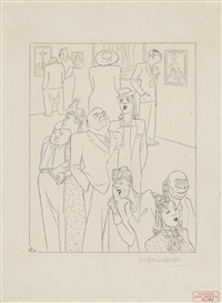 aus der neuen national gallery of art in washington by karl august arnold