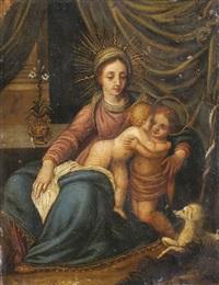 madonna mit jesus und dem johannesknaben by hans rottenhammer the elder