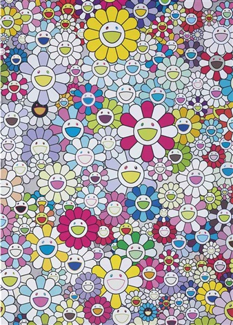 multicolor flowers by takashi murakami
