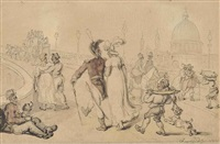an afternoon stroll by thomas rowlandson