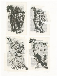 four cats by william kentridge