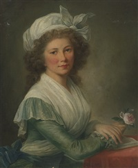 portrait of a young lady by marie-victoire lemoine