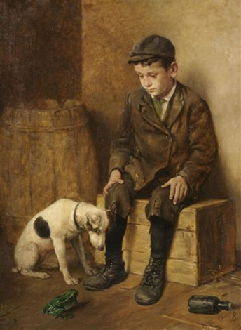 shoeshine boy with dog by john h henrici