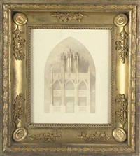design for an organ case by henry bailey
