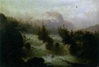 a turbulent alpine river by j. gartner
