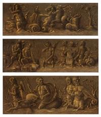 die drei bildtafeln aus der kollecktion foresti by andrea mantegna