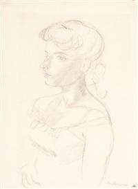 portrait einer frau by maurice barraud