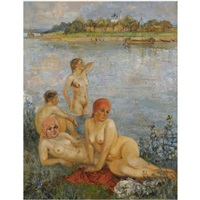 the bathers by ekaterina kachura-falileeva
