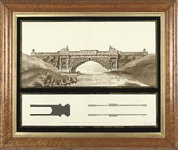 design for a neo-classical bridge by henry bailey