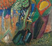 abstrakte komposition by gabriele münter