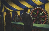 striped tent by jane dickson