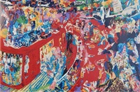 the bar at 21 by leroy neiman