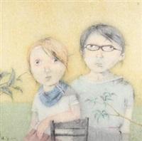 假如你是唯一 镜心 设色纸本 by zeng jianyong