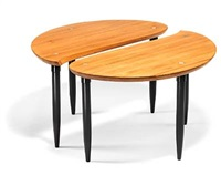 coffee table in two sections by yngve ekstrom