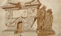 la base de la colonne trajane (study) by giuseppe manochi