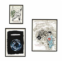 i. no title (it was the...) (+ 2 others; 3 works) by raymond pettibon