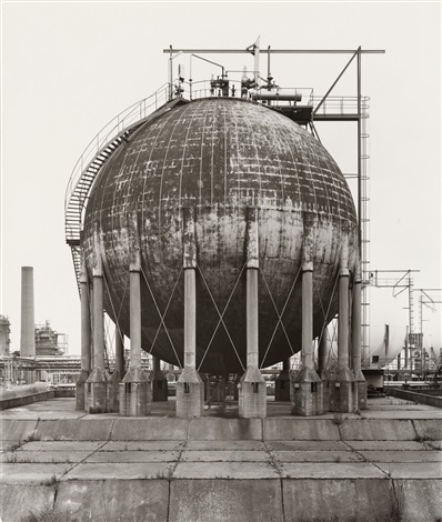 spherical gas tank wesseling near cologne germany by bernd and hilla becher