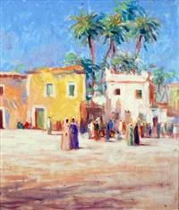 moroccan street scene by john miller