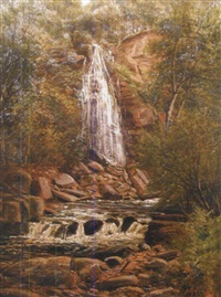 mallyan spout waterfall, goathland by john gunson atkinson