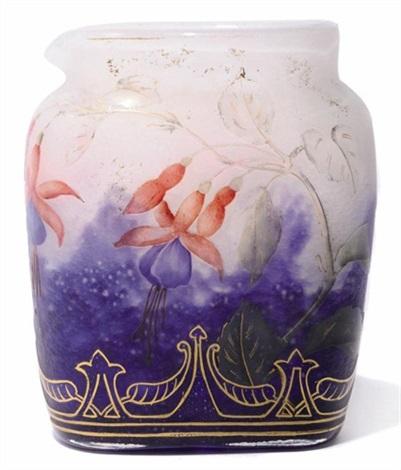 Fuschia Vase Par Daum Sur Artnet