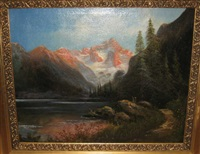mountain landscape by carl anton saabye