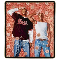 two heroic sisters of the grassland by kehinde wiley