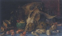 natura docet - still life with animal skulls by geraldo abraham brender a brandis