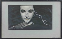 composition : visage et main de mannequin aux bijoux by lászló moholy-nagy