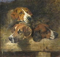 study of three hounds by john emms