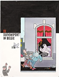 de duivensport in belgie by joost swarte