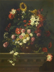 bouquet de flores by jean baptiste monnoyer
